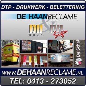 De Haan reclame, DH Drukkerij, DH sign, Broeksteeg drukkerij, Drukkerij Rijkers, Uden